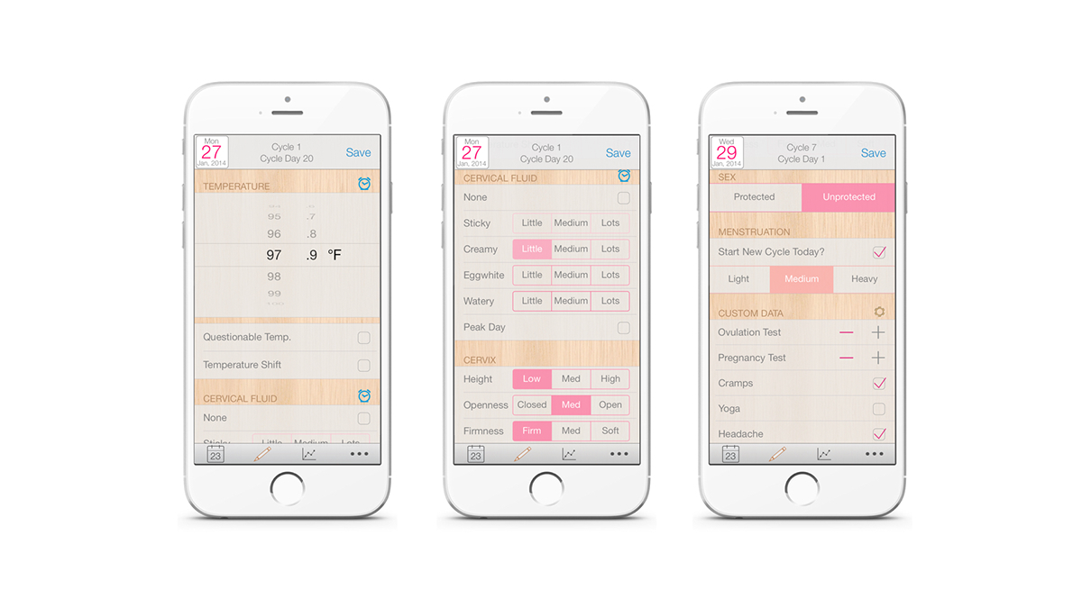 Kindara period tracker app
